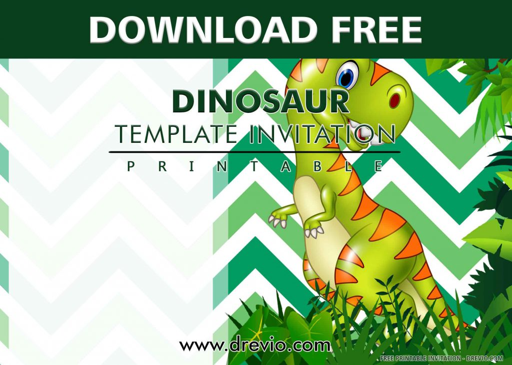 FREE DINOSAUR PARTY Invitation with title