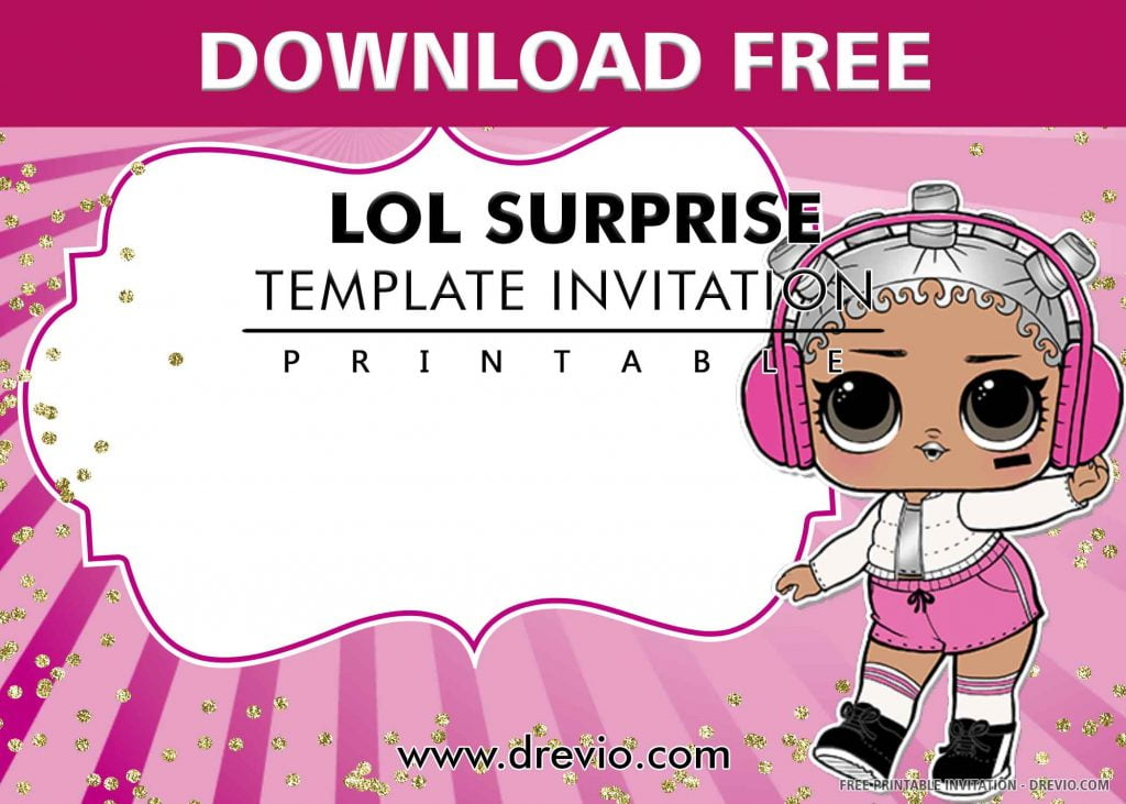 FREE LOL SURPRISE Invitation with Title