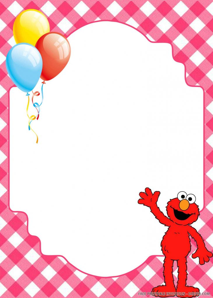FREE ELMO saying hello, balloons