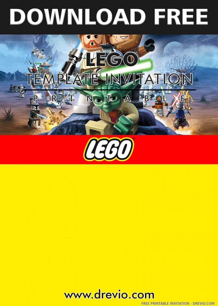 FREE LEGO STAR WARS Invitation with title