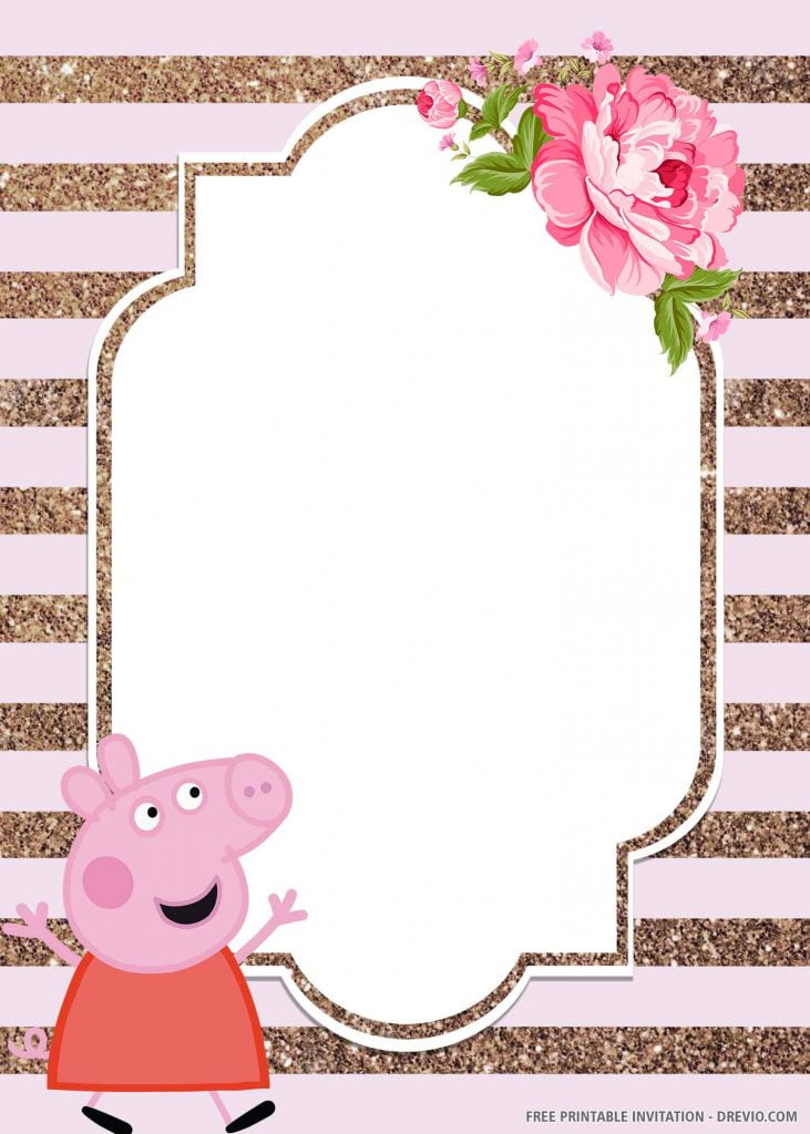 FREE PEPPA PIG Invitation with Peppa Pig, dress