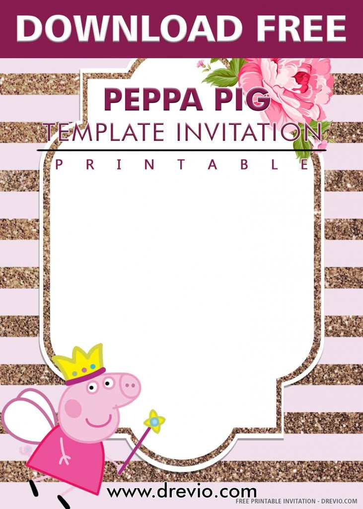 FREE PEPPA PIG Invitation with title