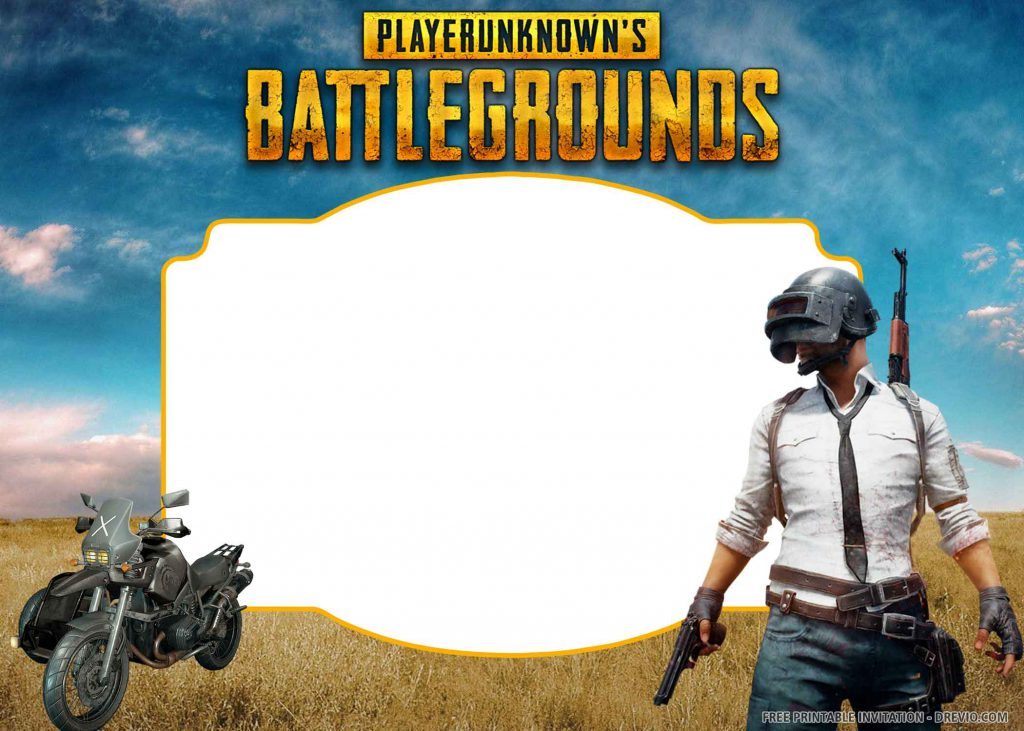 FREE PUBG Invitation with a male player, motorcycle