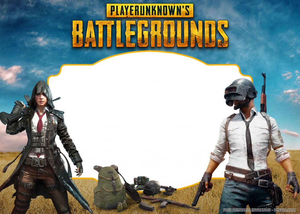 FREE PUBG Invitation with female and male players