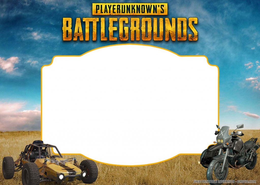 FREE PUBG Invitation with car, motorcycle