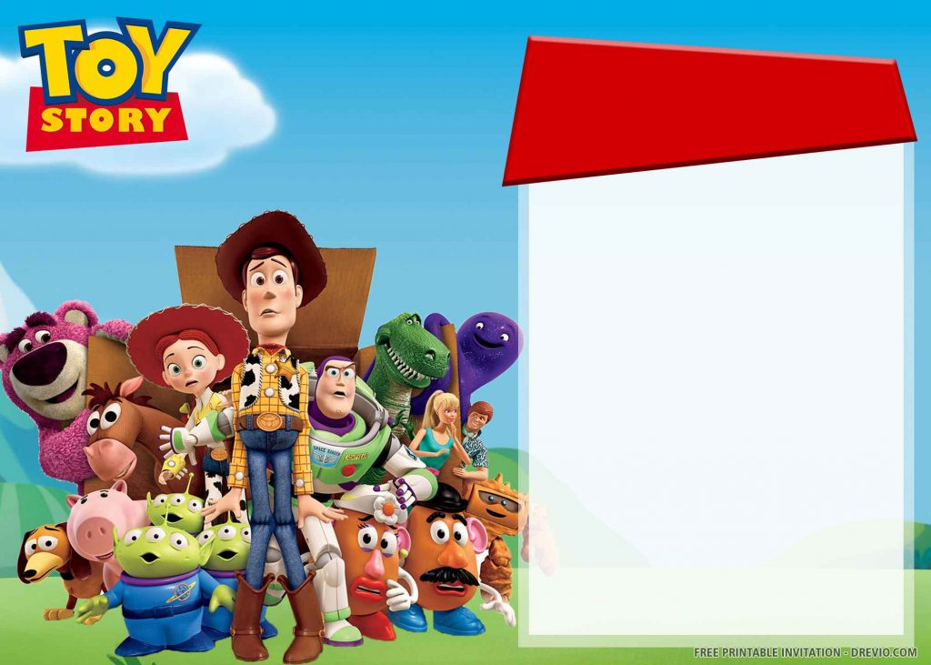 FREE TOY STORY Invitation with All Characters