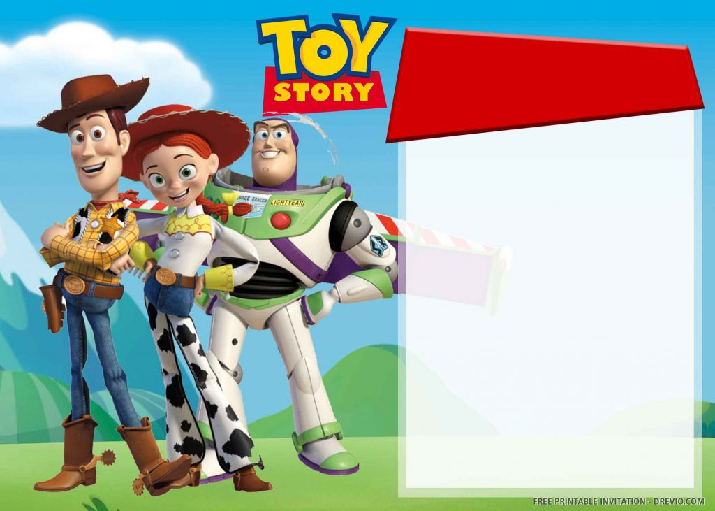FREE TOY STORY Invitation with Woody, Jessie, Buzz