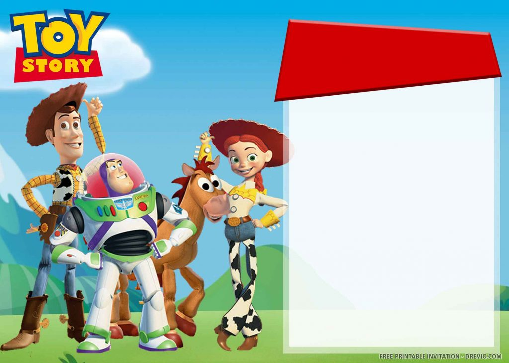 FREE TOY STORY Invitation with Woody, Buzz, Jessie, Bullseye