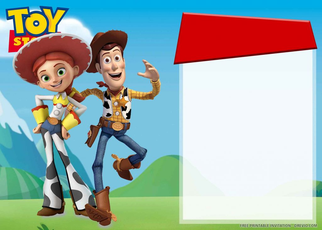 FREE TOY STORY Invitation with Woody, Jessie