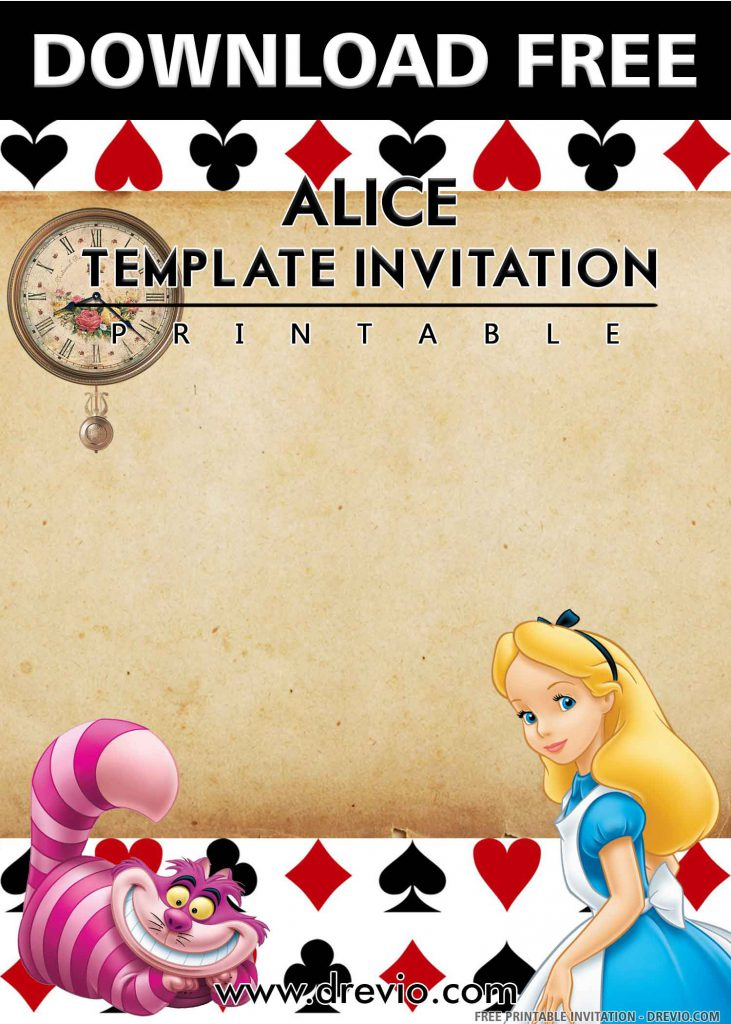 FREE ALICE Invitation with title