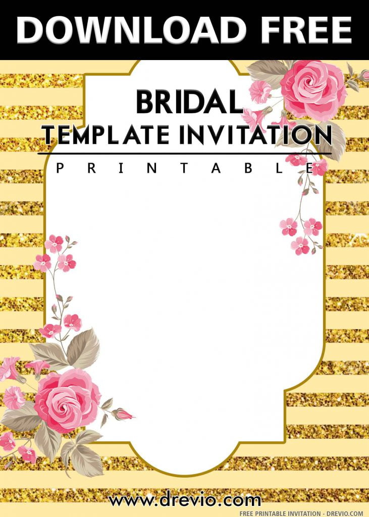 FREE BRIDAL Invitation with title