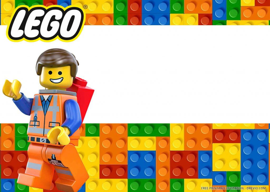FREE LEGO Invitation with a smiling technician