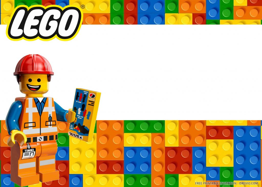 FREE LEGO Invitation with a working technician