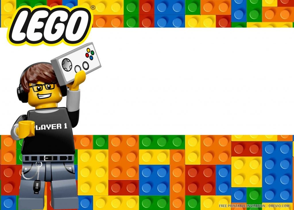 FREE LEGO Invitation with a player 1