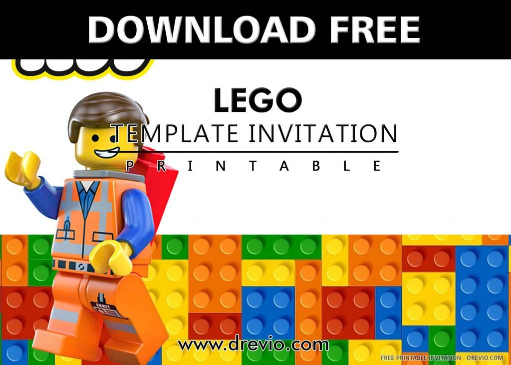 FREE LEGO Invitation with title