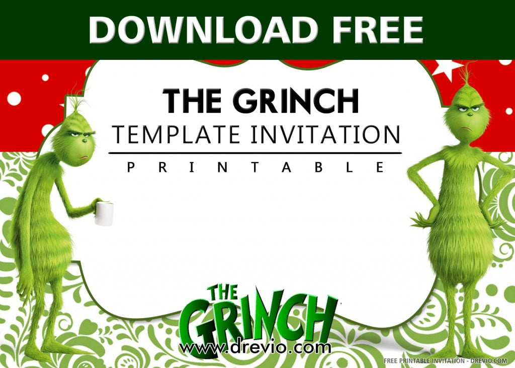 FREE GRINCH Invitation with title