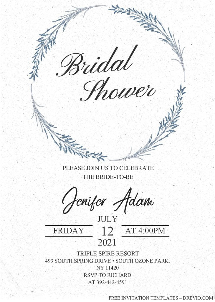 Modern Floral Invitation Templates - Editable With MS Word and has watercolor floral