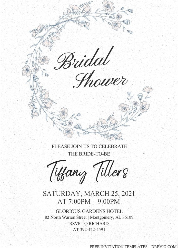 Modern Floral Invitation Templates - Editable With MS Word and has aesthetic fonts
