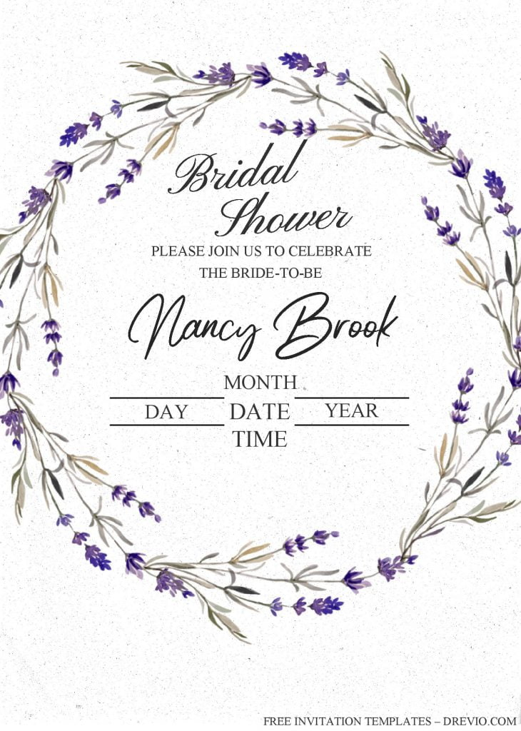 Modern Floral Invitation Templates - Editable With MS Word and has floral wreath