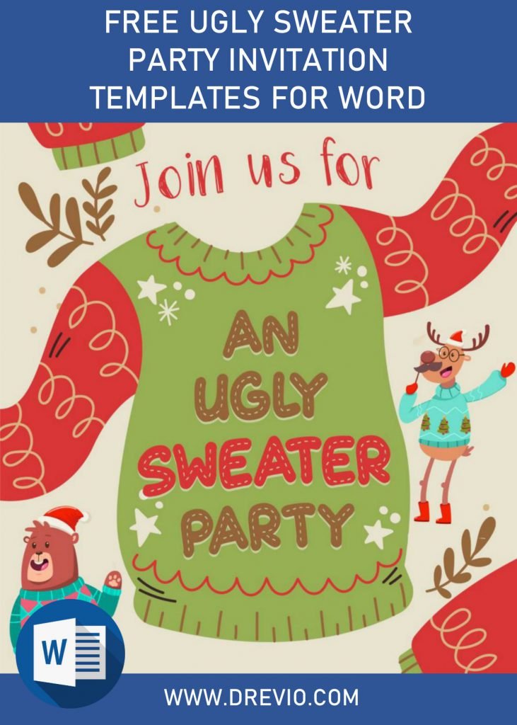 Free Ugly Sweater Party Invitation Templates For Word