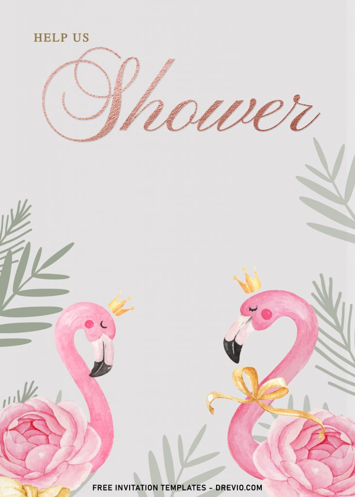 7+ Watercolor Flamingo And Rose Gold Birthday Invitation Templates and has